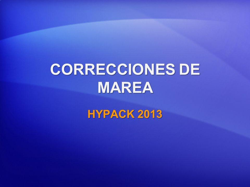 CORRECCIONES DE MAREA HYPACK 2013