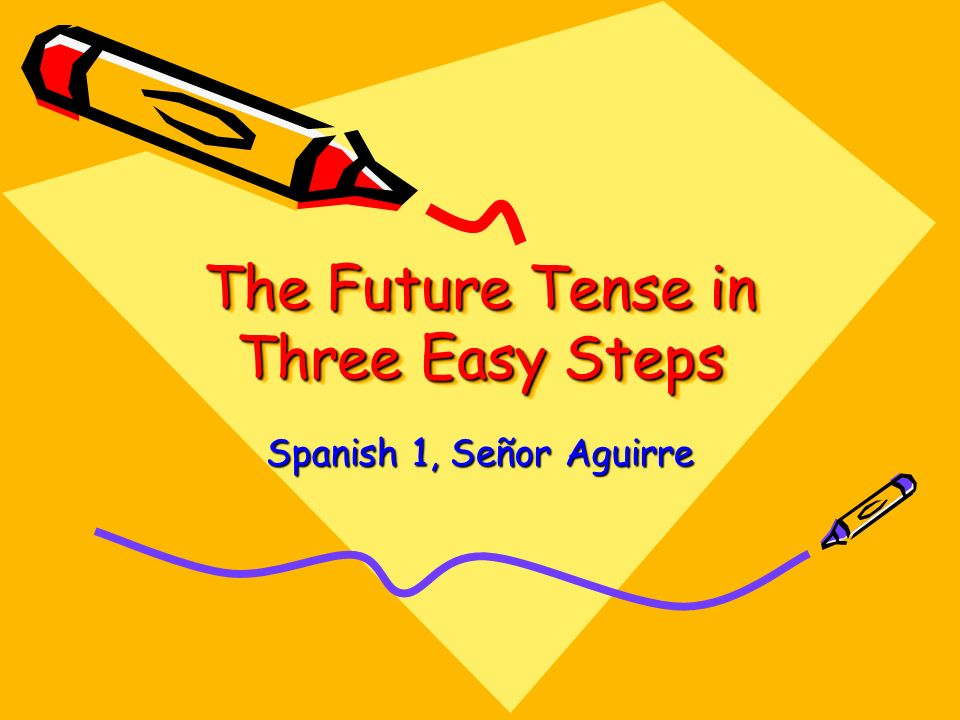 The Future Tense in Three Easy Steps