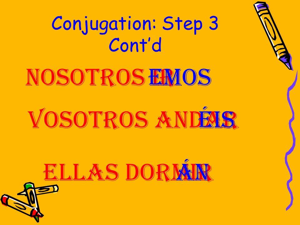Conjugation: Step 3 Cont'd
