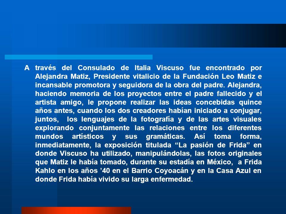 A través del Consulado de Italia Viscuso fue encontrado por Alejandra Matiz, Presidente vitalicio de la Fundación Leo Matiz e incansable promotora y seguidora de la obra del padre.