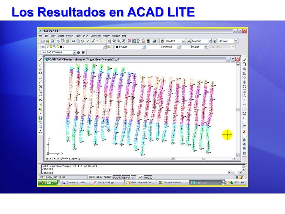 Los Resultados en ACAD LITE