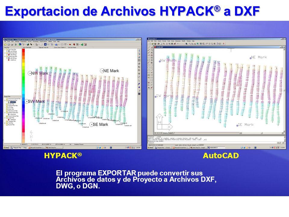 Exportacion de Archivos HYPACK® a DXF