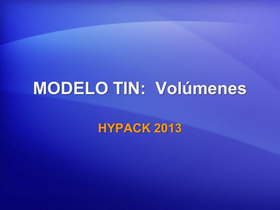 MODELO TIN: Volúmenes HYPACK 2013