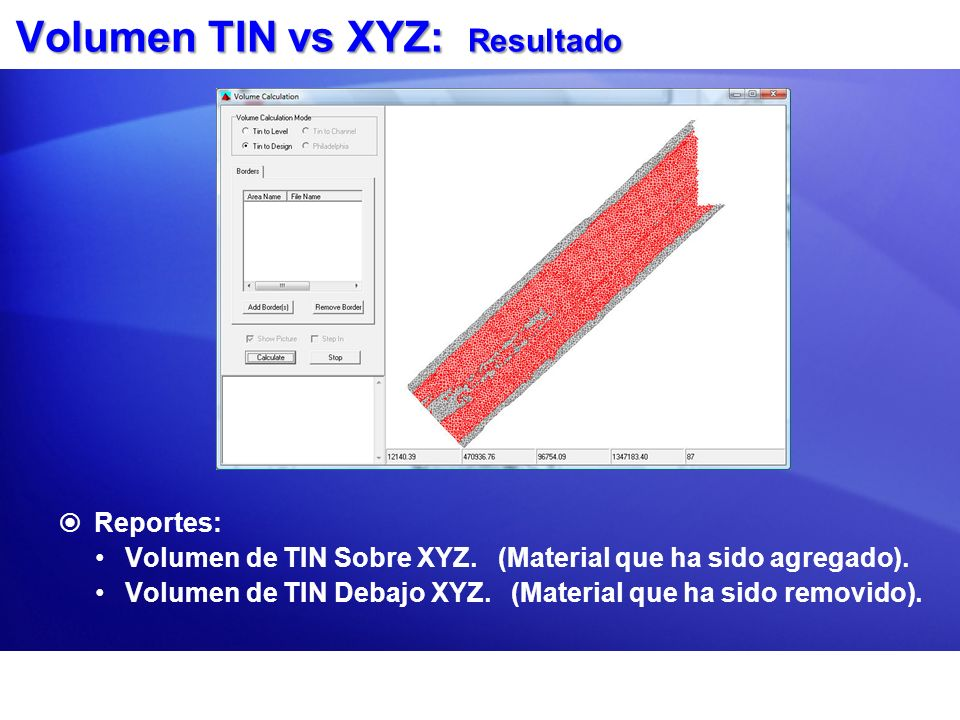 Volumen TIN vs XYZ: Resultado