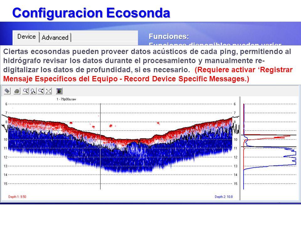 Configuracion Ecosonda