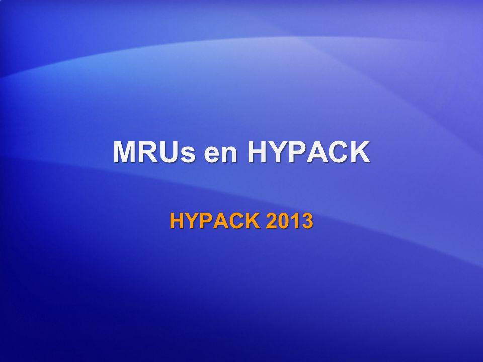 MRUs en HYPACK HYPACK 2013