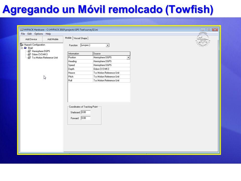 Agregando un Móvil remolcado (Towfish)