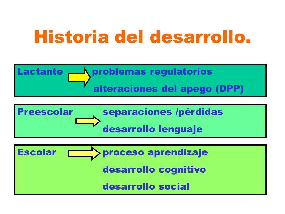 Historia del desarrollo.