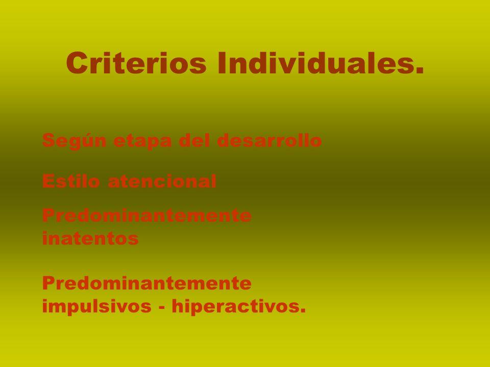 Criterios Individuales.