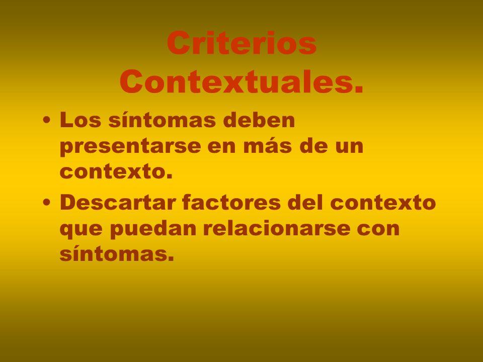 Criterios Contextuales.