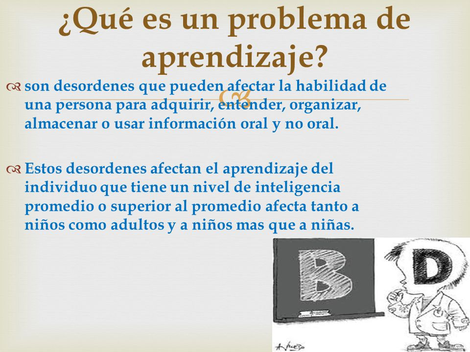 ¿Qué es un problema de aprendizaje