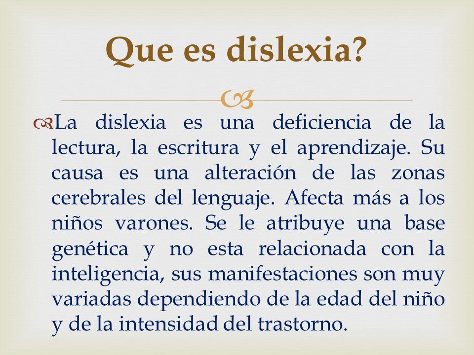 Que es dislexia