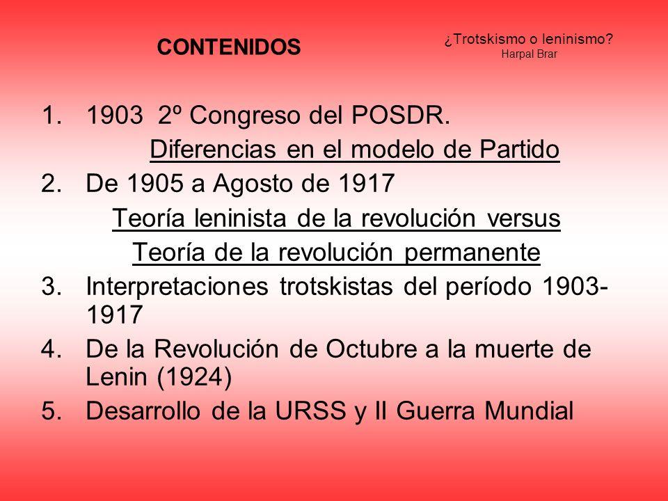 ¿Trotskismo o leninismo Harpal Brar