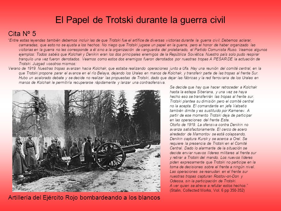 El Papel de Trotski durante la guerra civil