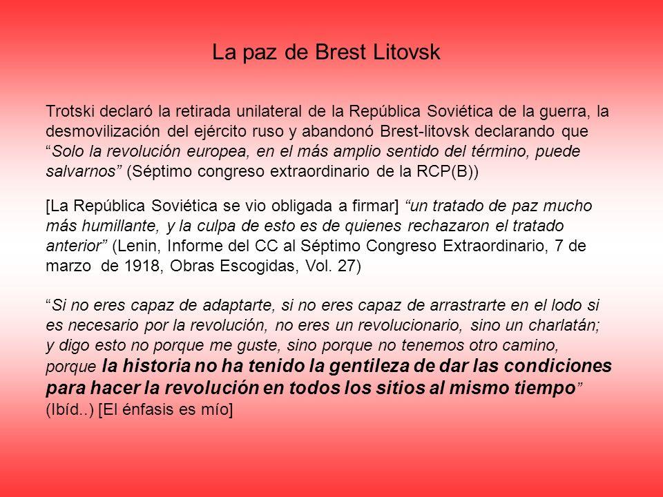 La paz de Brest Litovsk