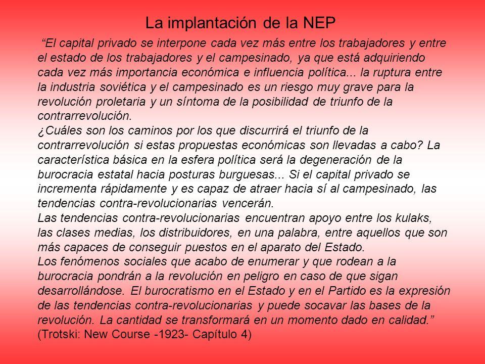 La implantación de la NEP