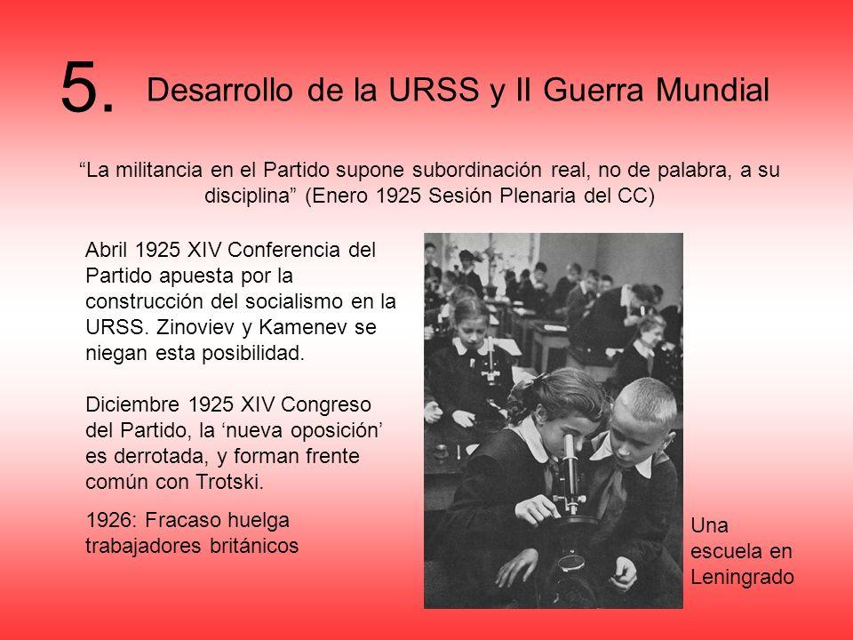 5. Desarrollo de la URSS y II Guerra Mundial