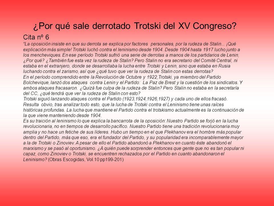 ¿Por qué sale derrotado Trotski del XV Congreso