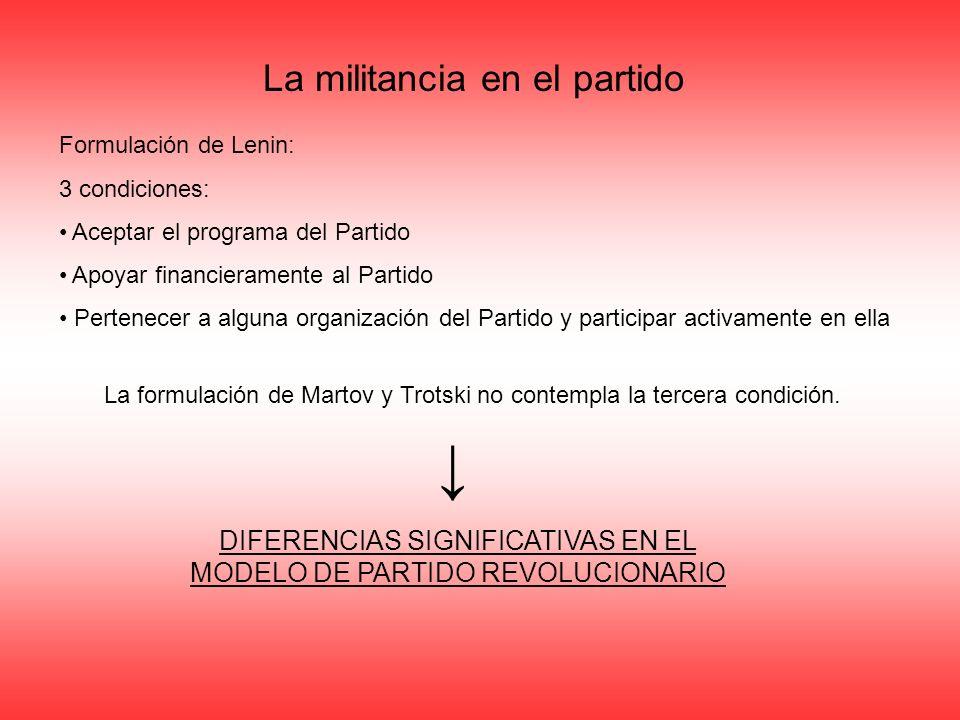 DIFERENCIAS SIGNIFICATIVAS EN EL MODELO DE PARTIDO REVOLUCIONARIO