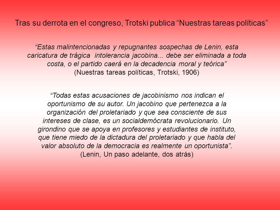 Tras su derrota en el congreso, Trotski publica Nuestras tareas políticas