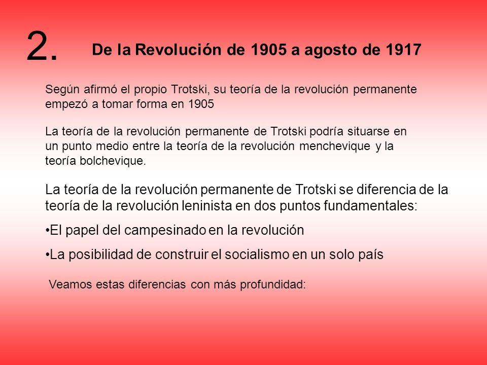 De la Revolución de 1905 a agosto de 1917