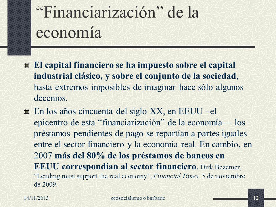 Financiarización de la economía