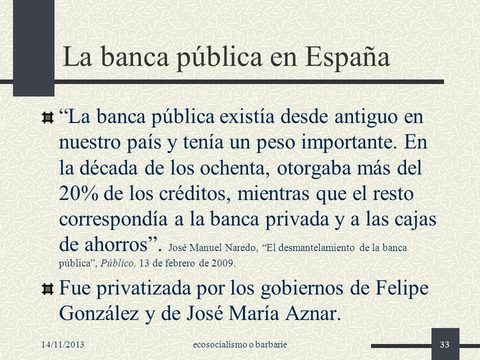 La banca pública en España