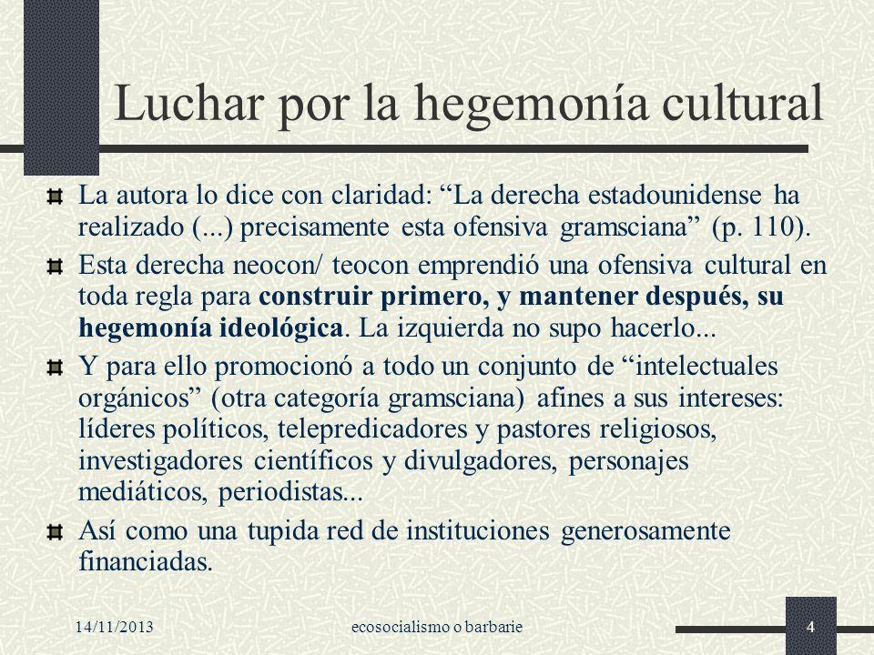 Luchar por la hegemonía cultural