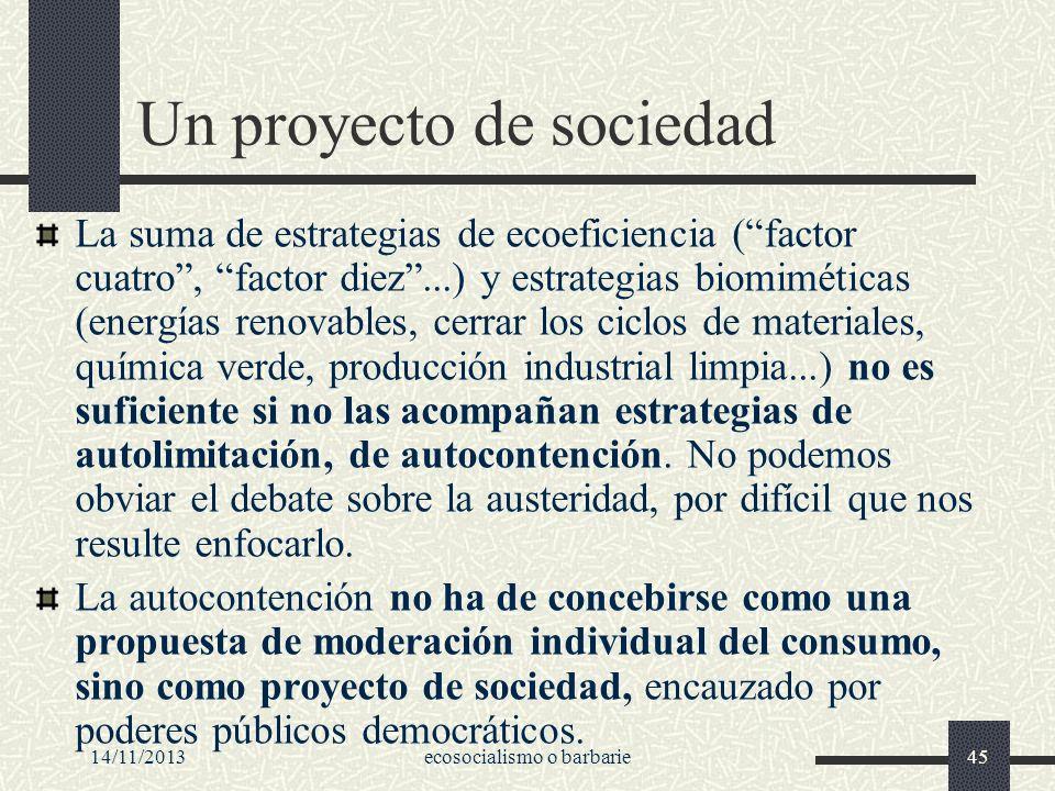 Un proyecto de sociedad