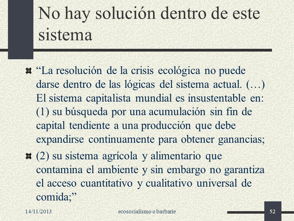 No hay solución dentro de este sistema