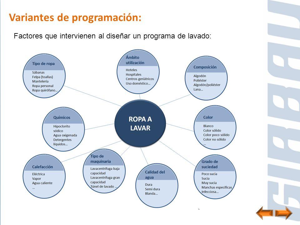 Variantes de programación: