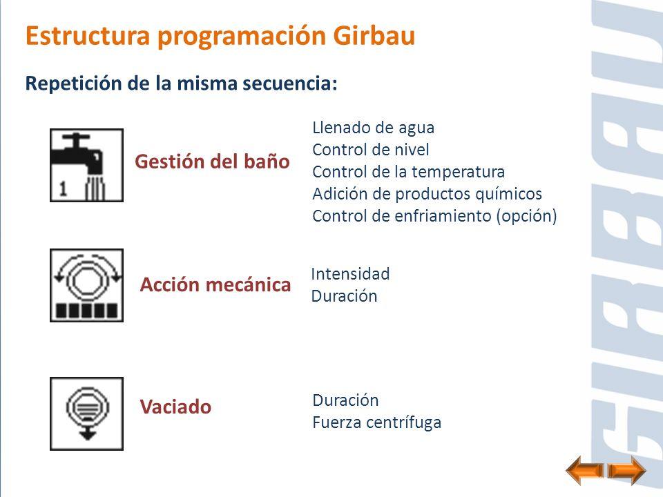 Estructura programación Girbau