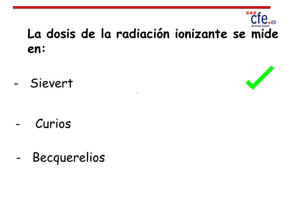 La dosis de la radiación ionizante se mide en: