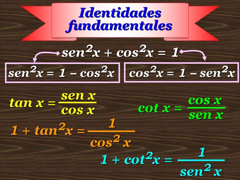 Clase 71 Sen2x + Cos2x = 1 Sen 2x = 2 Senx Cos X