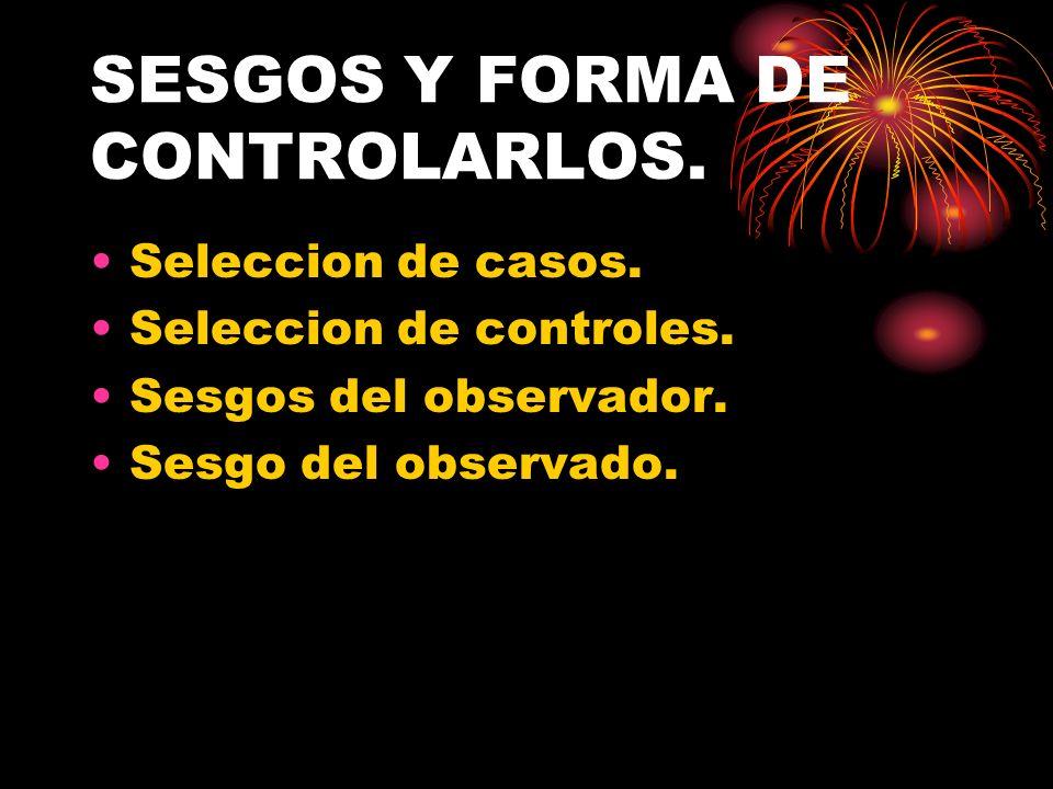 SESGOS Y FORMA DE CONTROLARLOS.