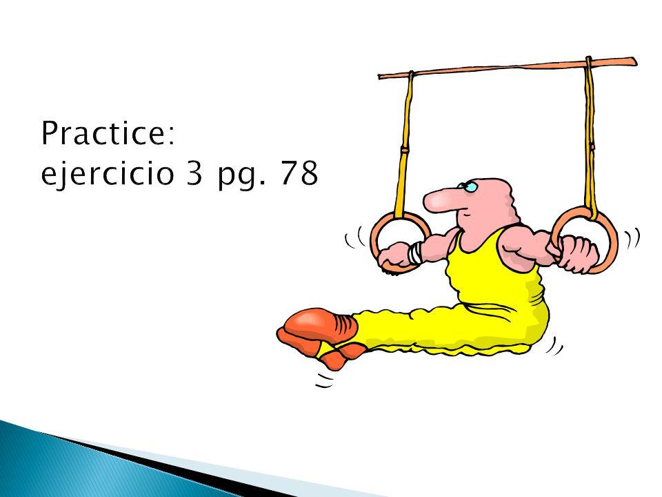 Practice: ejercicio 3 pg. 78