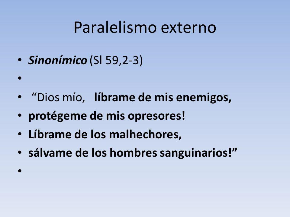 Paralelismo externo Sinonímico (Sl 59,2-3)
