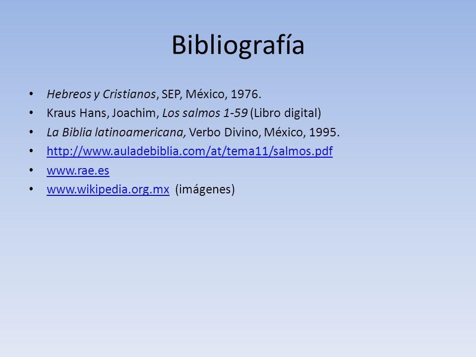 Bibliografía Hebreos y Cristianos, SEP, México, 1976.