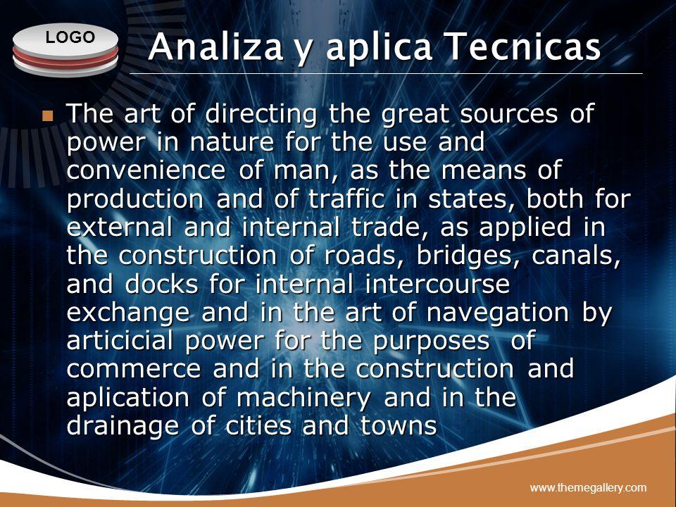 Analiza y aplica Tecnicas