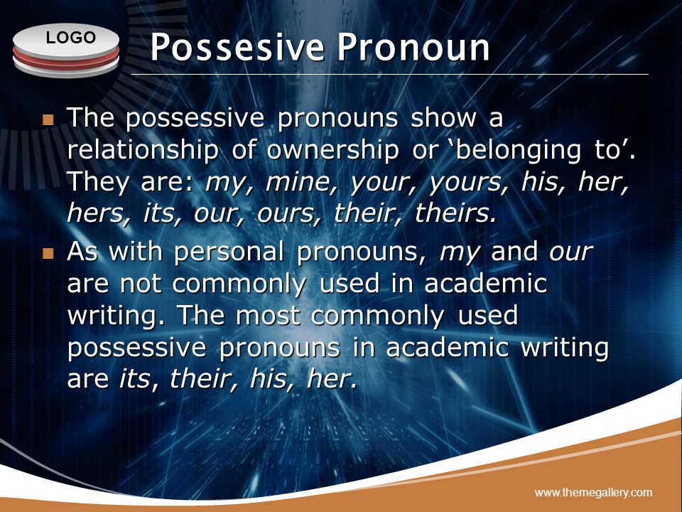 Possesive Pronoun