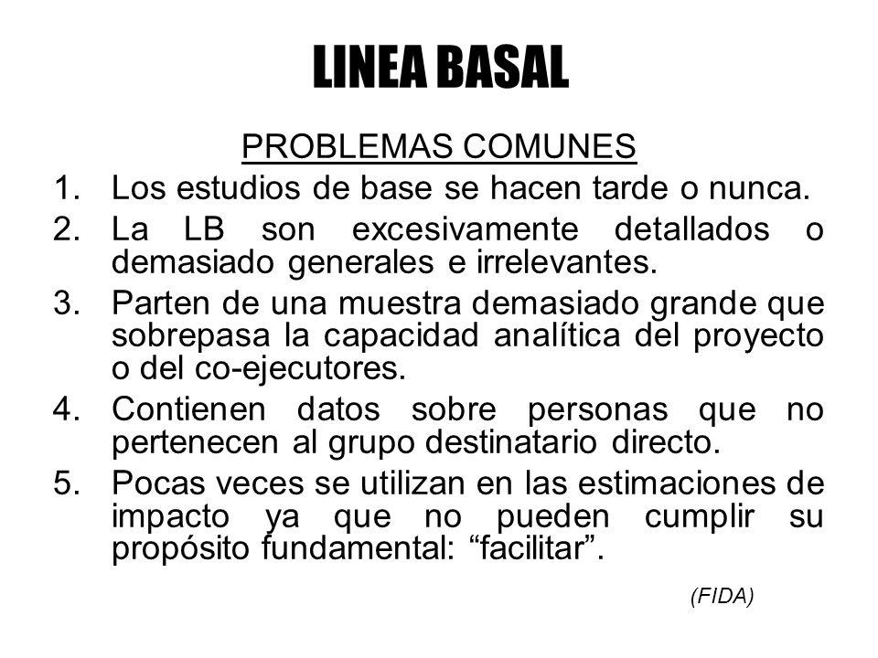 LINEA BASAL PROBLEMAS COMUNES