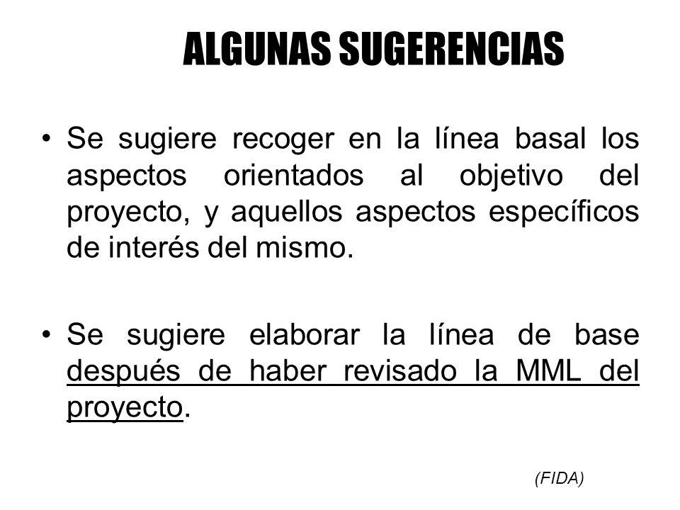 ALGUNAS SUGERENCIAS