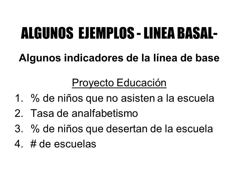 ALGUNOS EJEMPLOS - LINEA BASAL-