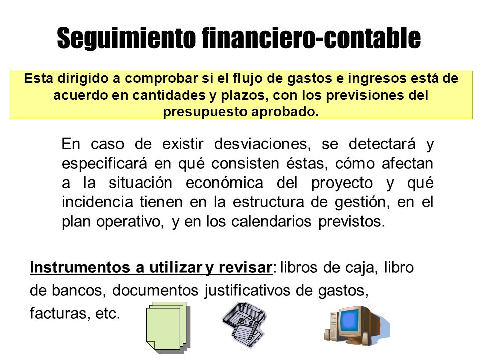 Seguimiento financiero-contable