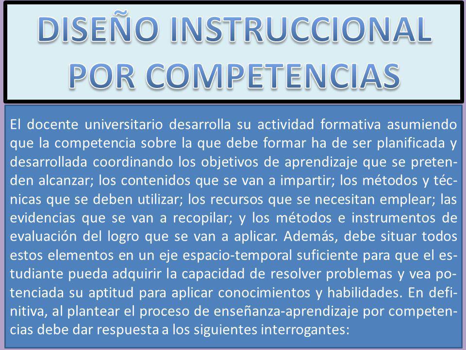 DISEÑO INSTRUCCIONAL POR COMPETENCIAS