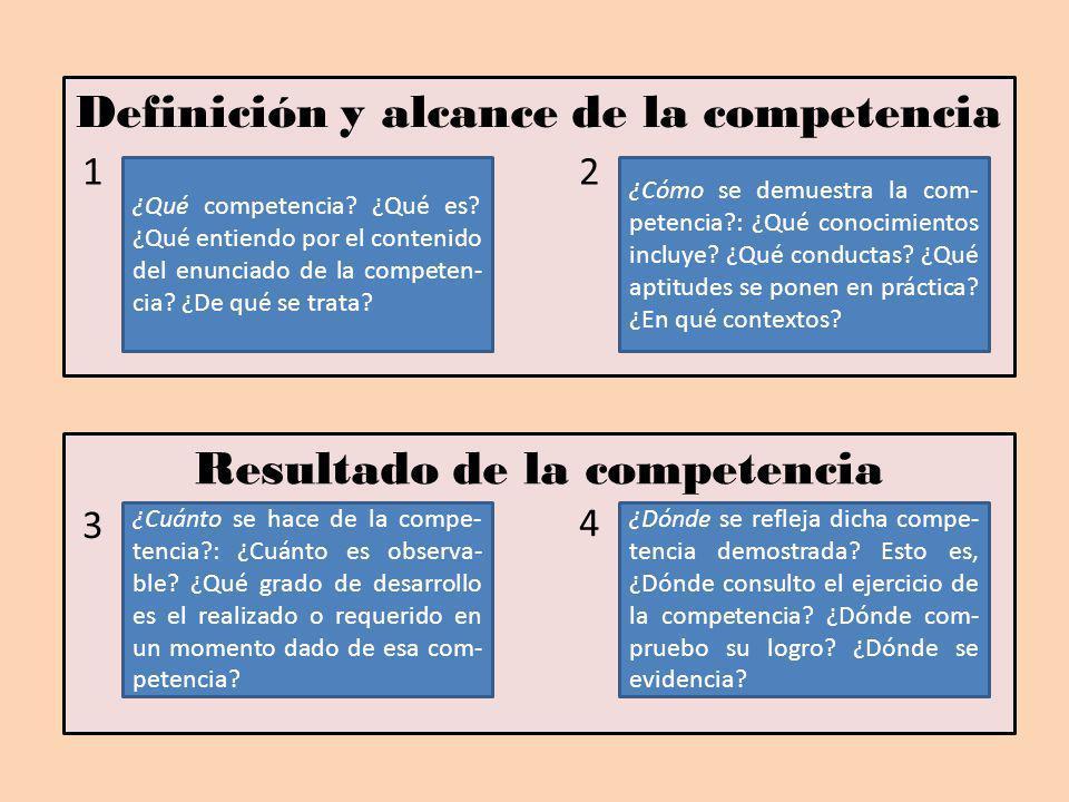 Definición y alcance de la competencia
