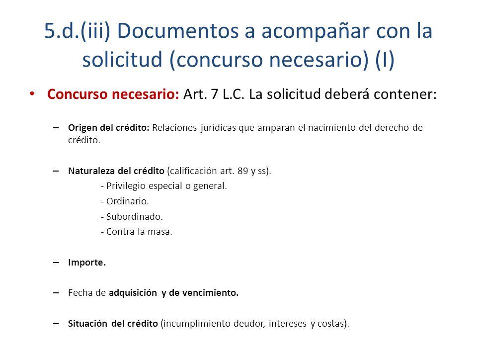 SOLICITUD Y DECLARACIÓN DE CONCURSO - ppt descargar