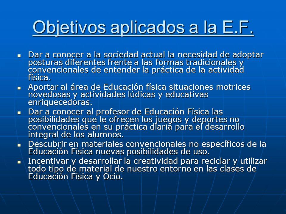 Objetivos aplicados a la E.F.