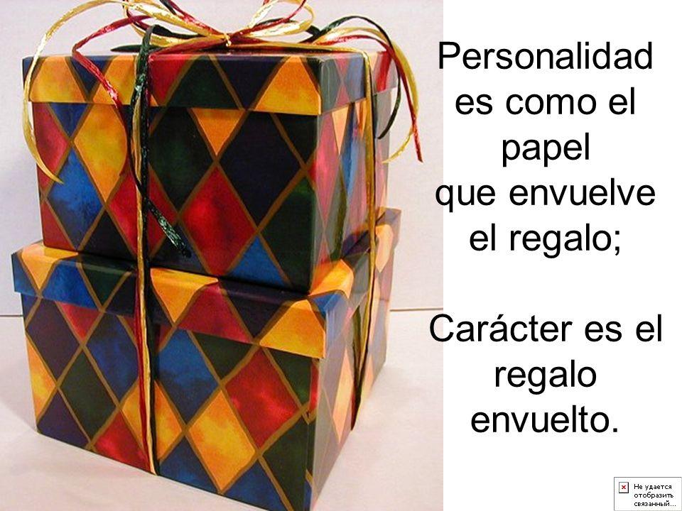 Personalidad es como el papel
