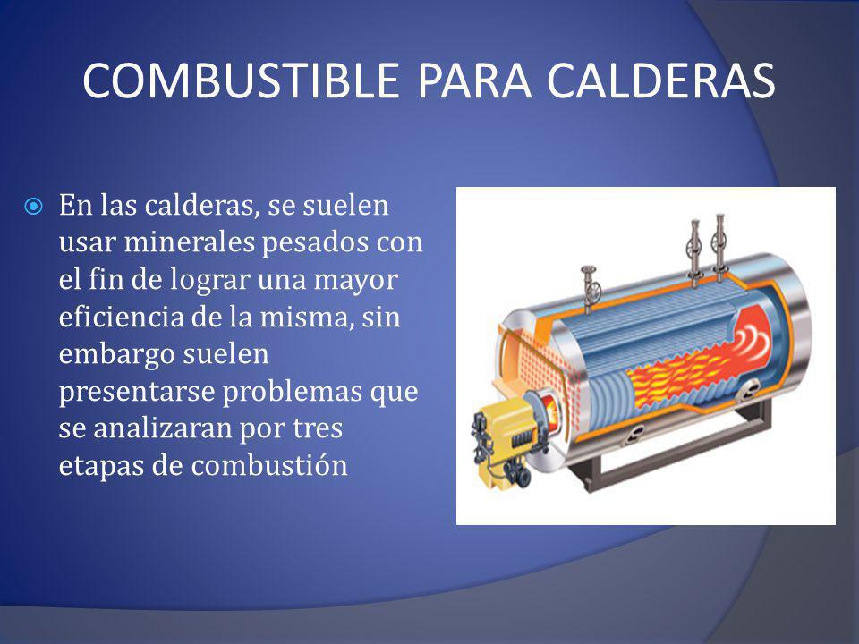 Combustible para calderas